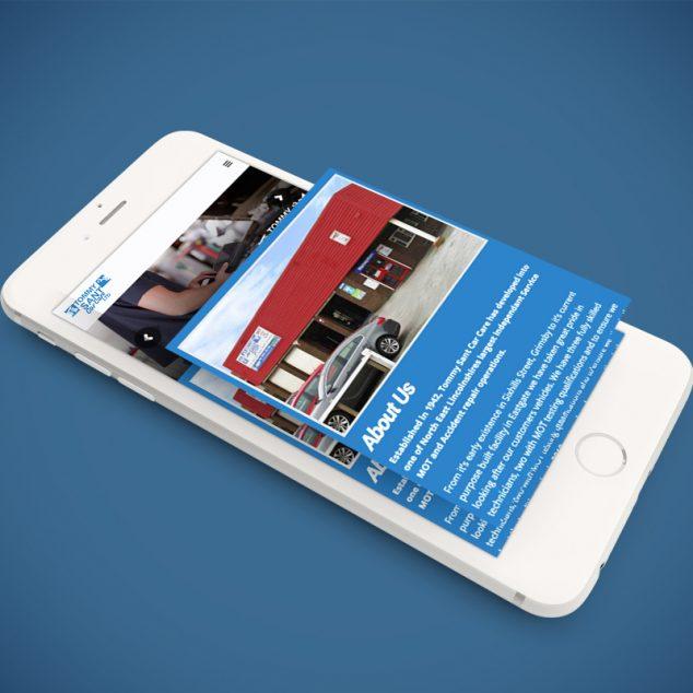 website on mobile