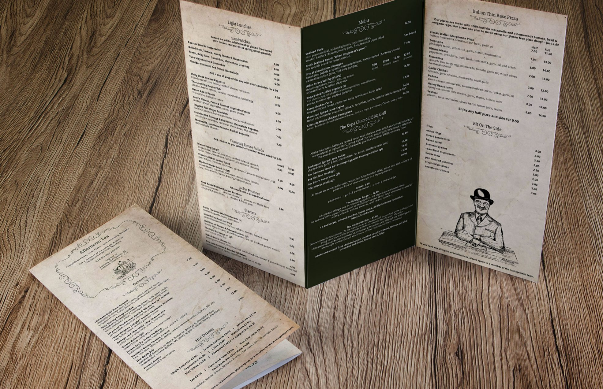 Restaurant Menu Design and Printing