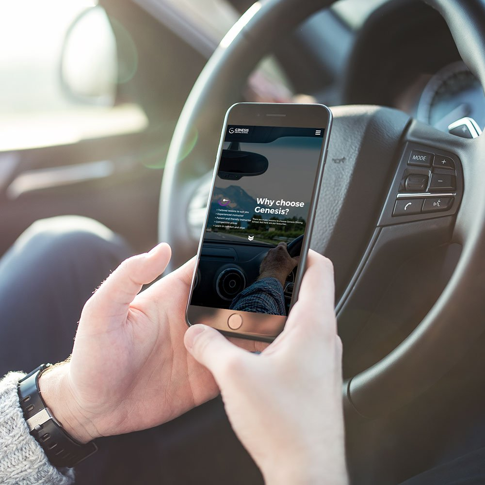 responsive website for driving instructor